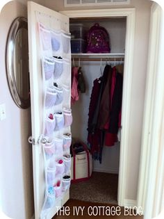 The Ivy Cottage Blog: Organizing The Coat Closet