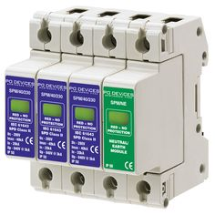 A3SPM/40/230N - 40kA Three Phase with N/E Module (w/o Remote Connector) - Type 2 Test Class II - This modular #surgeprotection #device provides #protection of equipment connected to incoming low voltage AC power supplies against the damaging effects of transient over voltages caused by local #lightning strikes, or the switching of electrical inductive or capacitive loads.