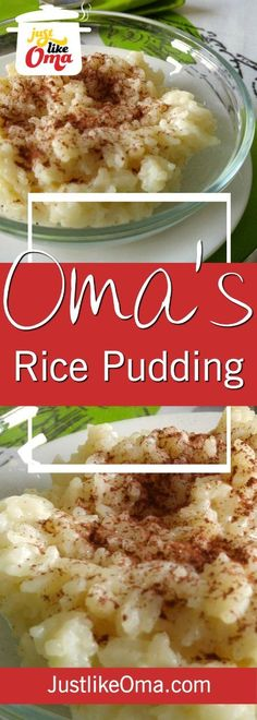 Easy Rice Pudding Recipes -- with or without raisins, cinnamon -- made in your oven! ❤️https://www.quick-german-recipes.com/simple-rice-pudding.html