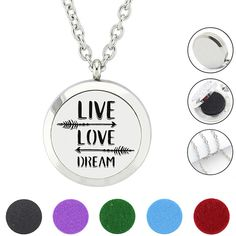 "Find More Pendants Information about Silver 30mm New ""LIVE LOVE"" Magnetic 316L Stainless Steel Essential Oil Diffuser Perfume Locket Necklace Pendant Jewelry,High Quality perfume locket necklace,China perfume lockets Suppliers, Cheap locket jewelry from URS Jewelry on Aliexpress.com"