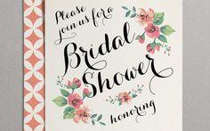 Printable Bridal Shower Invitation Vintage Floral by plpapers