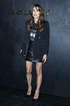 Charlotte Casiraghi attends Saint Laurent show, Front Row, Spring Summer Paris Fashion Week, France - 24 September 2019 Rock Chic, Rock Style, Glam Rock, My Style, Charlotte Casiraghi, Vestidos Zara, Mini Vestidos, Beauty And Fashion, Fashion Looks