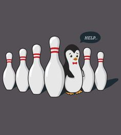 [Bowling Fail] by xraysucks is being reviewed on www.ShirtRater.com!  #penguin #cute