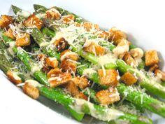 Caesar Asparagus, Low Calorie, Big on Deliciousness with Weight Watchers Points | Skinny Kitchen