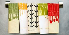 Tea towels have become such a great surface for wonderful graphics.