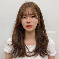 Long Hair With Bangs And Layers, Bangs With Medium Hair, Long Layered Hair, Medium Hair Cuts, Long Hair Cuts, Medium Hair Styles, Curly Hair Styles, Korean Long Hair, Asian Hair