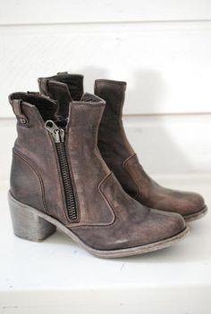 NYLO - ZORRO - BUFALO OPALE. brown leather heeled boots