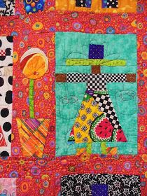 Ahhhh   pure happiness is...   Freddy Moran!     Here's some pictures   of her forty quilts   on display at Island Quilter on Vashon Isla...