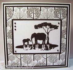 Designed by Helen N Using 'Silhouette Elephants'