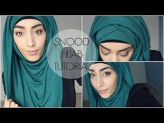 HIJAB TUTORIAL | Criss Cross Hijab Style avec un snood - YouTube
