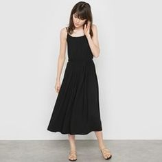 Midi Dress with Shoestring Straps  MADEMOISELLE R