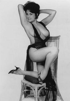 daysgonebyporn:  June Palmer in Long Black Negligee (Original)