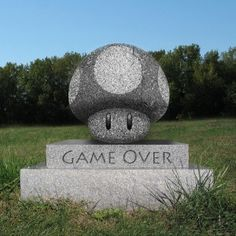 lol i want this as my gravestone xD i love super mario! Wii U, Nintendo, Cemetery Art, Cemetery Headstones, Cemetery Monuments, Geek Out, Mario Bros, Super Mario, The Funny