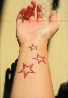 Stars Tattoos On Wrist