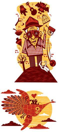 cordel - Samuel Casal Franz Marc, Silk Screen Printing, Made Goods, Tigger, Cool Art, Character Design, Carving, Joy, Draw