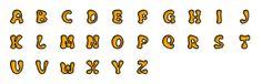 Letras Naranjas
