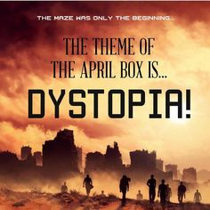 We have officially sold out of the March box and now the April 'Dystopia' Box is available! REMEMBER: if you are already subscribed to OwlCrate you do NOT need to sign up again. Your account will automatically renew. Next month's box will contain an addictive and unique dystopian novel as well as lots of items inspired by our favourite dystopian stories. If you like The Hunger Games The Maze Runner and Shatter Me you won't want to miss this box! So many goodies!  by owlcrate