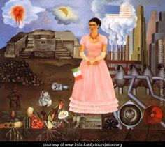 Self Portrait On The Borderline Between Mexico And The United States 1932 - Frida Kahlo - www.frida-kahlo-foundation.org
