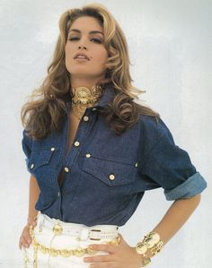 Cindy Crawford denim does couture for the first time in history