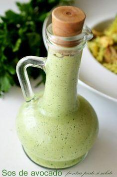 sos de avocado Good Food, Yummy Food, Aioli, Salad Dressing, Easy Meals, Food And Drink, Cooking Recipes, Tasty, Vegan