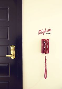Interior Design | The Dean // this almost makes me wish i had a land line.