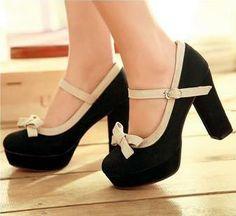 Zapatos ocasionales al por mayor - Comprar 2013 Zapatos Primavera Moda Zapatos de mujer de suela Bow Corrector de color Tacones gruesos impermeables zapatos de tacón alto, $ 11.54 | DHgate