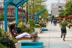 The Porch Adds Custom Swings from Gehl Studio | University City District