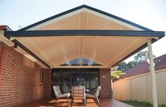 Image result for attached pitched roof pergola