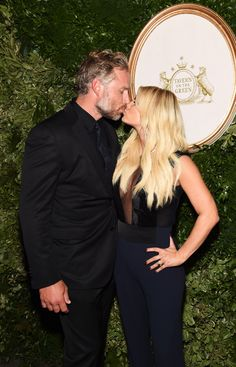 Jessica Simpson and Eric Johnson indulge in some PDA at the 10th anniversary of her collection | toofab.com