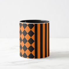 Halloween mix pattern mug - autumn gifts templates diy customize