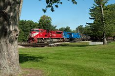 Indiana Rail Road Southbound cruises by Deming Park on the East side of Terre Haute,