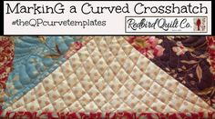 The QP Curve Templates - Quilting a Curved Crosshatch on a Domestic Machine ~ Quilting ~ Redbird Quilt Co ~ Chevron with a Twist for the Moda Bake Shop - Kar. Quilting Rulers, Longarm Quilting, Free Motion Quilting, Quilting Tips, Quilting Tutorials, Quilting Templates, Machine Quilting Designs, Quilt Patterns, Quilting Stencils