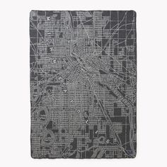Minneapolis and St Paul Throws by Faribault Wool Mill