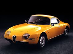 """1961 Alfa Romeo Giulietta Sprint Veloce """"Goccia"""" Michelotti."""