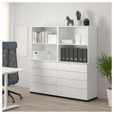 Refresh your home - IKEA - GALANT, Storage combination with filing, white, Warranty. Home Office Space, Home Office Design, Home Office Decor, Small Office, Office Spaces, Office Ideas, White Office, Office Set, Office Table