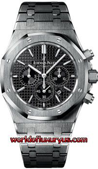 26320ST.OO.1220ST.01 - Audemars Piguet Royal Oak Chronograph Watches. 41mm x 10.80mm stainless steel case, screw-locked crown, glareproofed sapphire crystal, black dial with Grande Tapisserie pattern, white gold applied hour-markers - See more at: http://www.worldofluxuryus.com/watches/Audemars-Piguet/Royal-Oak/26320ST.OO.1220ST.01/62_63_5229.php#sthash.78ZnAZ8f.dpuf