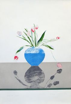 Bid now on Pretty Tulips by David Hockney. View a wide Variety of artworks by David Hockney, now available for sale on artnet Auctions. David Hockney Artwork, Illustrations, Illustration Art, Pop Art Movement, Robert Motherwell, Arte Pop, Painting & Drawing, Still Life, Lawrence Lee