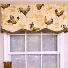 Unique Rooster Kitchen Valances