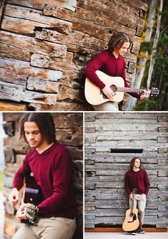 Senior portrait session with guitar in Fairbanks, Alaska | Sophia Jordan Photography | Nationwide Lifestyle Portrait Photography. Senior guy pose.