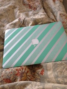 Laptopgestaltung mit Masking Tape: Apple Macbook air mit Washi Tape dekorieren