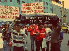 Protestas por Ley de Servicio Civil presente [Foto: Candy Castro / Spacio Libre]