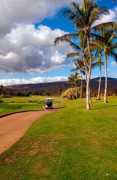 golfing in Oahu, Hawaii