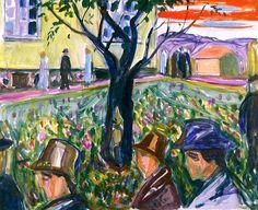 People Wandering in the Garden Edvard Munch - 1929-1930
