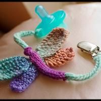 Great gift tag idea for a baby shower! Binky Buddies Dragonfly