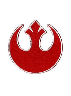 4ac1e3e0a Iron-on patch from Star Wars with embroidered Rebel Alliance logo design.  Approx.