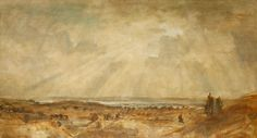 """PHILLIP WILSON STEER OM (1860-1942) """"Stormy Sunset near Painswick"""", signed lower left and dated 1"""