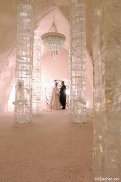 How about an Ice wedding theme? destinationweddings.travel