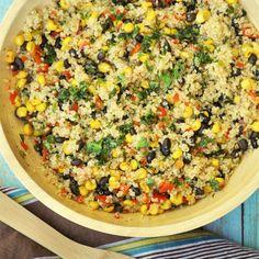 Warm Black Bean and Corn Quinoa Salad.  Just had it yesterday - YUM!