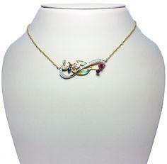 Enamel Butterfly Necklace