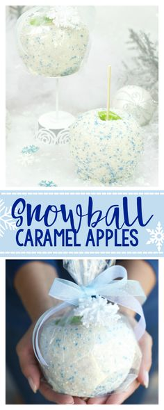 Snowball Caramel Apples